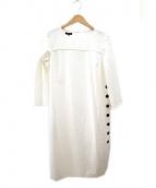 ESCADA(エスカーダ)の古着「ボタン デザイン サック ワンピース」 オフホワイト