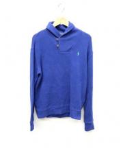 POLO RALPH LAUREN(ポロラルフローレン)の古着「ショールカラースウェット」|ブルー