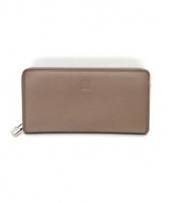 LOEWE(ロエベ)の古着「ラウンドファスナー財布」|ベージュ