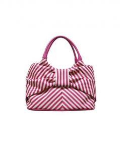 Kate Spade(ケイトスペード)の古着「ハンドバッグ」|ピンク×ホワイト