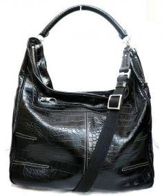 aniary(アニアリ)の古着「クロコ型押し2WAYレザーショルダーバッグ」|ブラック