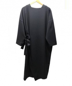 CLANE(クラネ)の古着「サイドスリットオーバーワンピース」 ブラック