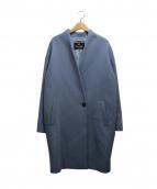 ELFORBR(エルフォーブル)の古着「ショートビーバーノーカラーコート」|ラベンダー