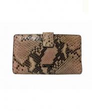 Kate Spade(ケイトスペード)の古着「パイソンがま口2つ折り財布」|ピンク
