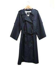 Unaca(アナカ)の古着「袖ワイドトレンチコート」|ネイビー
