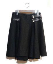 VERSACE(ヴェルサーチ)の古着「フレアスカート」|ブラック