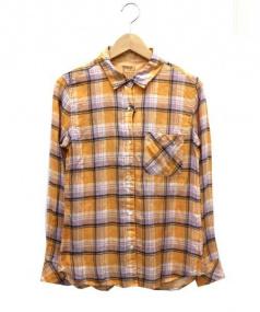 YANUK(ヤヌーク)の古着「チェックシャツ」|オレンジ