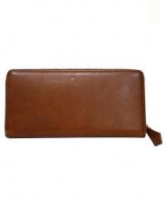 cocomeister(ココマイスター)の古着「ラウンドファスナー長財布」|ブランデー