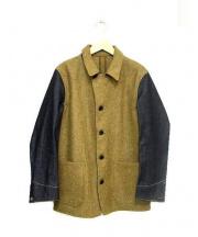 The FRANKLIN TAILORED(ザ・フランクリンティラード)の古着「メルトンデニムカバーオールジャケット」|ベージュ