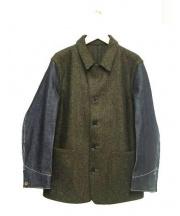 The FRANKLIN TAILORED(ザ・フランクリンティラード)の古着「メルトンデニムカバーオール」|オリーブ
