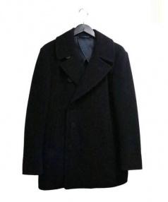 The FRANKLIN TAILORED(ザ・フランクリンティラード)の古着「キャメルウールPコート」|ネイビー