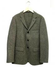 The FRANKLIN TAILORED(フランクリンテイラード)の古着「3Bツイードウールブレザーテーラードジャケット」|グレー