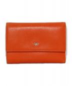 ANYA HINDMARCH(アニヤハインドマーチ)の古着「3つ折り財布」|オレンジ