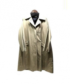 MACPHEE(マカフィー)の古着「ビッグステンカラーコート」 ベージュ