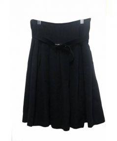 BLACK COMME des GARCONS(ブラックコムデギャルソン)の古着「ウールスカート」|ブラック
