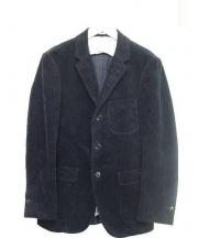 The FRANKLIN TAILORED(ザ・フランクリンティラード)の古着「3Bコーデュロイテーラードジャケット」|ネイビー