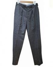 The FRANKLIN TAILORED(ザ・フランクリンティラード)の古着「カシミヤ混フランネルパンツ」 グレー