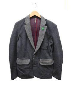 FRAPBOIS(フラボア)の古着「ヘリンボーンジャケット」 グレー