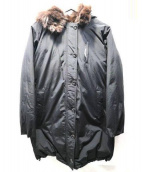 MAYSON GREY(メイソングレイ)の古着「ファーフードダウンコート」|ブラック