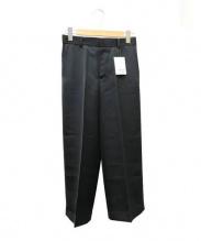 DEUXIEME CLASSE(ドゥーズィエムクラス)の古着「ダブルサテンクロップドパンツ」 ブラック