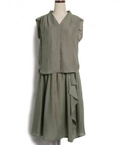 Rirandture(リランドチュール)の古着「美人百花コラボ/エアリーセットアップ」|カーキ