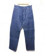 The FRANKLIN TAILORED(フランクリンテーラード)の古着「ペインターデニムパンツ」 ブルー