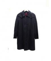 The FRANKLIN TAILORED(ザ・フランクリンテーラード)の古着「ステンカラーコート」|ブラック
