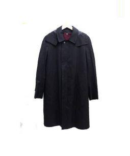 The FRANKLIN TAILORED(ザ・フランクリンテーラード)の古着「ステンカラーコート」 ブラック