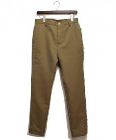 sacai(サカイ)の古着「サイドフリンジパンツ」 ベージュ