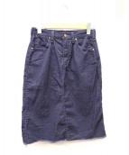 Wrangler×Ron Herman(ラングラー×ロンハーマン)の古着「コーデュロイスカート」|ネイビー