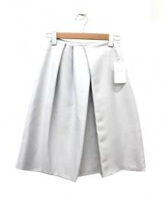 TOMORROW LAND(トゥモローランド)の古着「アシメタックスカート」 ライトグレー