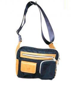 OROBIANCO(オロビアンコ)の古着「リモンタナナイロンボディーバッグ」|ネイビー