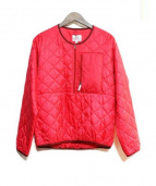 Battenwear(バッテンウェア)の古着「プルオーバーキルティングジャケット」|ショッキングピンク