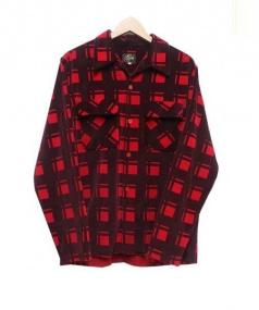 Needles(ニードルス)の古着「ベルベットオープンカラーシャツ」|レッド
