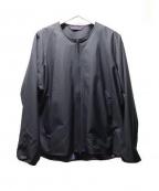 Needles sportswear(ニードルズスポーツウェア)の古着「ノーカラージャケット」 ブラック