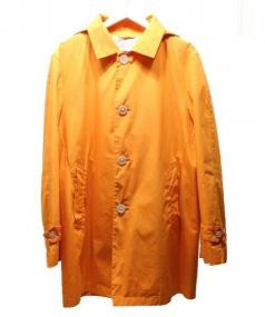 MACKINTOSH PHILOSOPHY(マッキントッシュフィロソフィー)の古着「フード付ステンカラーコート」|オレンジ