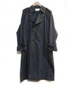 The FRANKLIN TAILORED(フランクリンテーラード)の古着「ナイロントレンチコート」|ブラック