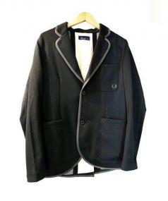 FRED PERRY(フレッドペリー)の古着「パイピングジャケット」|ブラック