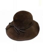 MAXIMA(マキシマ)の古着「ツバ広帽」|ブラウン