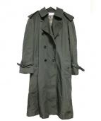 The FRANKLIN TAILORED(フランクリンテーラード)の古着「ロングトレンチコート」|オリーブ