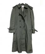 The FRANKLIN TAILORED(フランクリンテーラード)の古着「ロングトレンチコート」 オリーブ