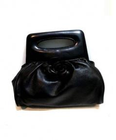 CHANEL(シャネル)の古着「カメリアハンド バッグ」|ブラック