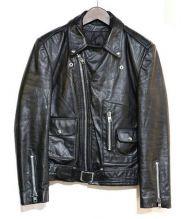 BOUTIQUE MOTO MODE(ビュティック モト モード)の古着「レザーライダースジャケット」|ブラック