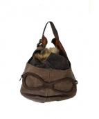 ebagos(エバゴス)の古着「帽体バッグ./ヘルメットバッグ」|ブラウン