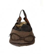 ebagos(エバゴス)の古着「帽体バッグ./ヘルメットバッグ」 ブラウン