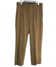 IROQUOIS(イロコイ)の古着「タックパンツ」|ベージュ