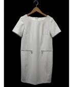 ms select(エムズセレクト)の古着「ジップポケットワンピース」 ホワイト