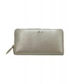 Kate Spade(ケイトスペード)の古着「ラウンドファスナー長財布」|ゴールド