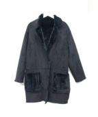 GOUT COMMUN(グーコミューン)の古着「リバーシブルフェイクムートンコート」|ブラック