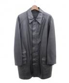 HERMES(エルメス)の古着「レザーコート」|ブラック